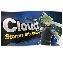 Cloud, Storms into battle! Poster