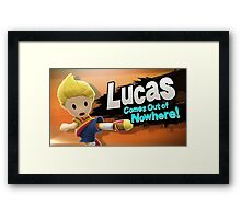Lucas comes out of Nowhere! Framed Print
