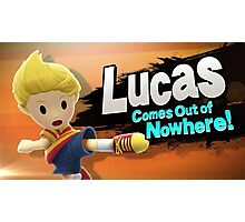 Lucas comes out of Nowhere! Photographic Print