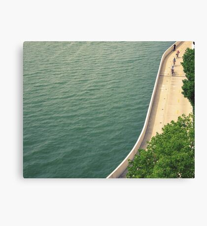 Biking Madison Canvas Print