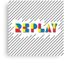 RePlay Canvas Print