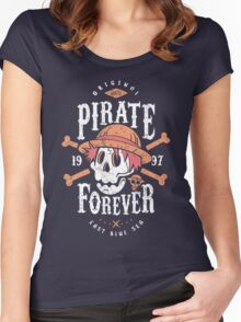 Wanted Pirate Forever Women's Fitted Scoop T-Shirt