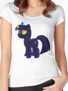 My cute pony. Little night horse. Women's Fitted Scoop T-Shirt