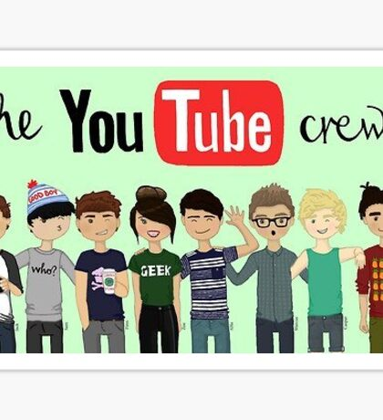 THE YOUTUBE CREW MERCH! Sticker