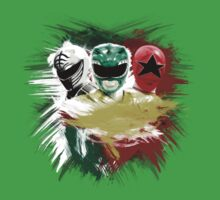 Tommy - White, Green & Red Ranger Kids Tee