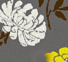 Poppy Yellow and White Flower Sticker