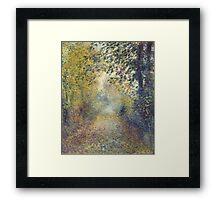 Auguste Renoir - In the Woods  1880 Impressionism  Landscape Framed Print