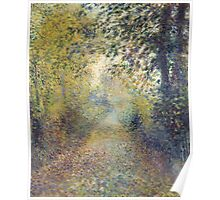 Auguste Renoir - In the Woods  1880 Impressionism  Landscape Poster