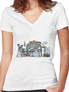 Happy Gaming Women's Fitted V-Neck T-Shirt