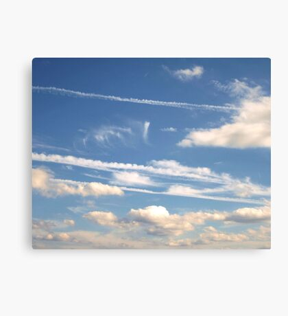 Travel Lines Canvas Print