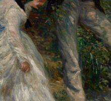 Auguste Renoir - La Promenade 1870 Woman Portrait Impressionism  Landscape Sticker