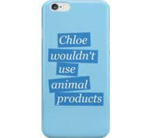 Max' bathroom comment (blue) iPhone Case/Skin