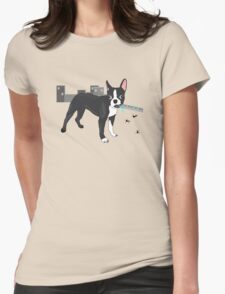 Attack of the Colossal Boston Terrier!!! Womens Fitted T-Shirt