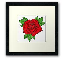Rose tattoo - red Framed Print