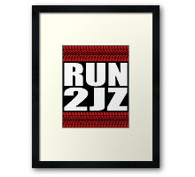 RUN 2JZ tire tread Framed Print