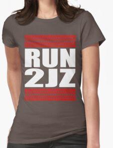 RUN 2JZ tire tread Womens Fitted T-Shirt