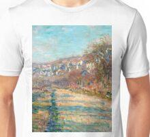 1880-Claude Monet-Road of La Roche-Guyon-60 x 73 Unisex T-Shirt