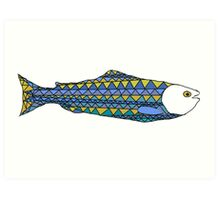 Scandinavian fish Art Print