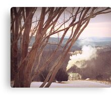 Winter Cabin Smoking Canvas Print
