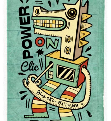 Power on Sticker