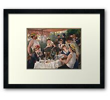 Auguste Renoir - Luncheon of the Boating Party 1880-1881 Woman Portrait Framed Print