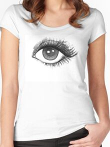 woman eye Women's Fitted Scoop T-Shirt