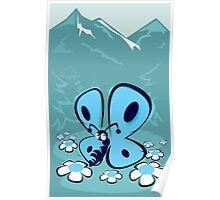 blue mountain butterfly Poster