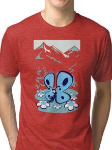 blue mountain butterfly Tri-blend T-Shirt