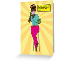 Become your own hero - yellow Greeting Card