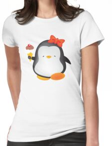 Ice cream penguin Womens Fitted T-Shirt