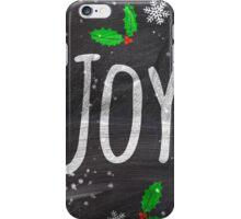 Holidays Joy typography snow black chalkboard  iPhone Case/Skin