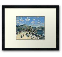 Auguste Renoir - Pont Neuf, Paris 1872 Impressionism  Landscape Framed Print