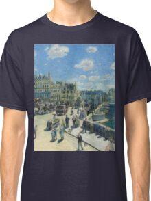 Auguste Renoir - Pont Neuf, Paris 1872 Impressionism  Landscape Classic T-Shirt