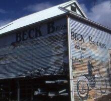 Beck Brothers Mural,Streaky Bay, Australia 2002 Sticker
