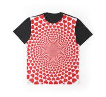 Hearts Vortex Graphic T-Shirt