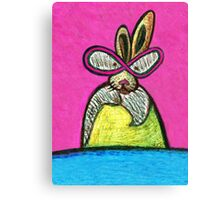 Bunny on a Mission Canvas Print