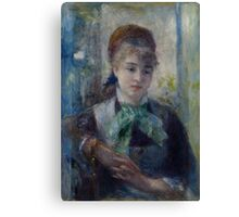 Auguste Renoir - Portrait of Nini Lopez 1876 Woman Portrait Canvas Print