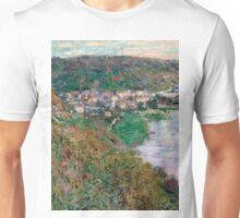 1880-Claude Monet-View of Vétheuil-65 x 81 Unisex T-Shirt