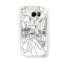 Hogwarts: stained glass style (black & white) Samsung Galaxy Case/Skin