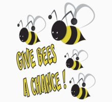 Give bees a chance One Piece - Short Sleeve