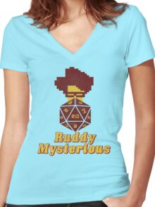 Ruddy Mysterious  Women's Fitted V-Neck T-Shirt