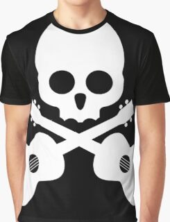 Old Skull Music Guitar Graphic T-Shirt