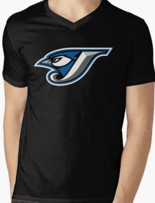 TORONTO BLUE JAYS LOGO Mens V-Neck T-Shirt