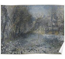 Auguste Renoir - Snow-covered Landscape 1870 - 1875 Poster