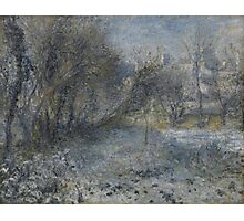 Auguste Renoir - Snow-covered Landscape 1870 - 1875 Photographic Print