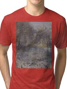 Auguste Renoir - Snow-covered Landscape 1870 - 1875 Tri-blend T-Shirt