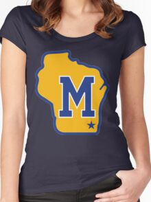 MILWAUKEE BREWERS LOGO Women's Fitted Scoop T-Shirt