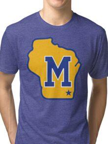 MILWAUKEE BREWERS LOGO Tri-blend T-Shirt