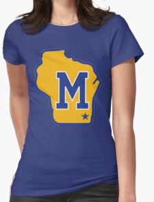 MILWAUKEE BREWERS LOGO Womens Fitted T-Shirt