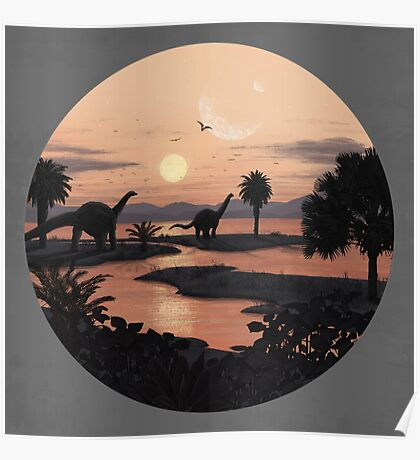 Jurassic Beach Poster